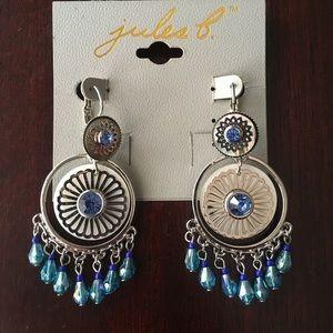 Blue Tribal Earrings